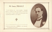 Gaston Priault. Plaquette 6 pages, 13x21 cm.